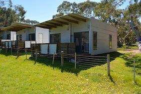 Deluxe Cabins Openplan Bimbipark Front