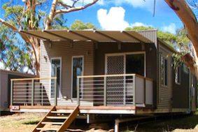 Deluxe Cabins 3 Bedroom Bimbipark Front
